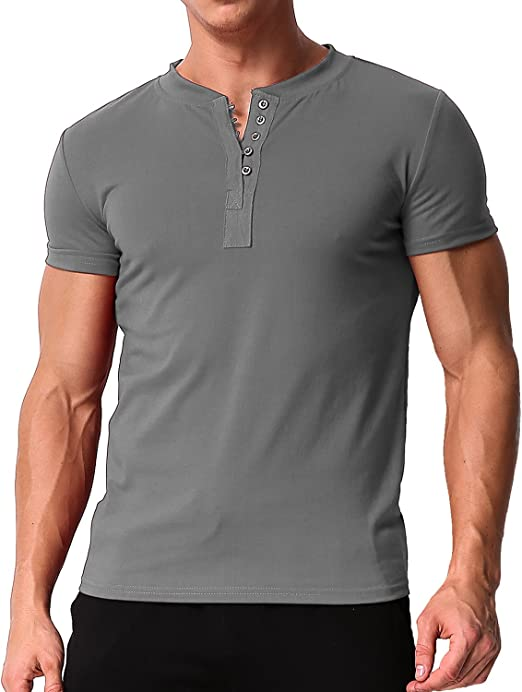 Basic Solid Color Tees Short Sleeve Tops Slim Fit Shirts Cotton Blouse Photno Mens T Shirts