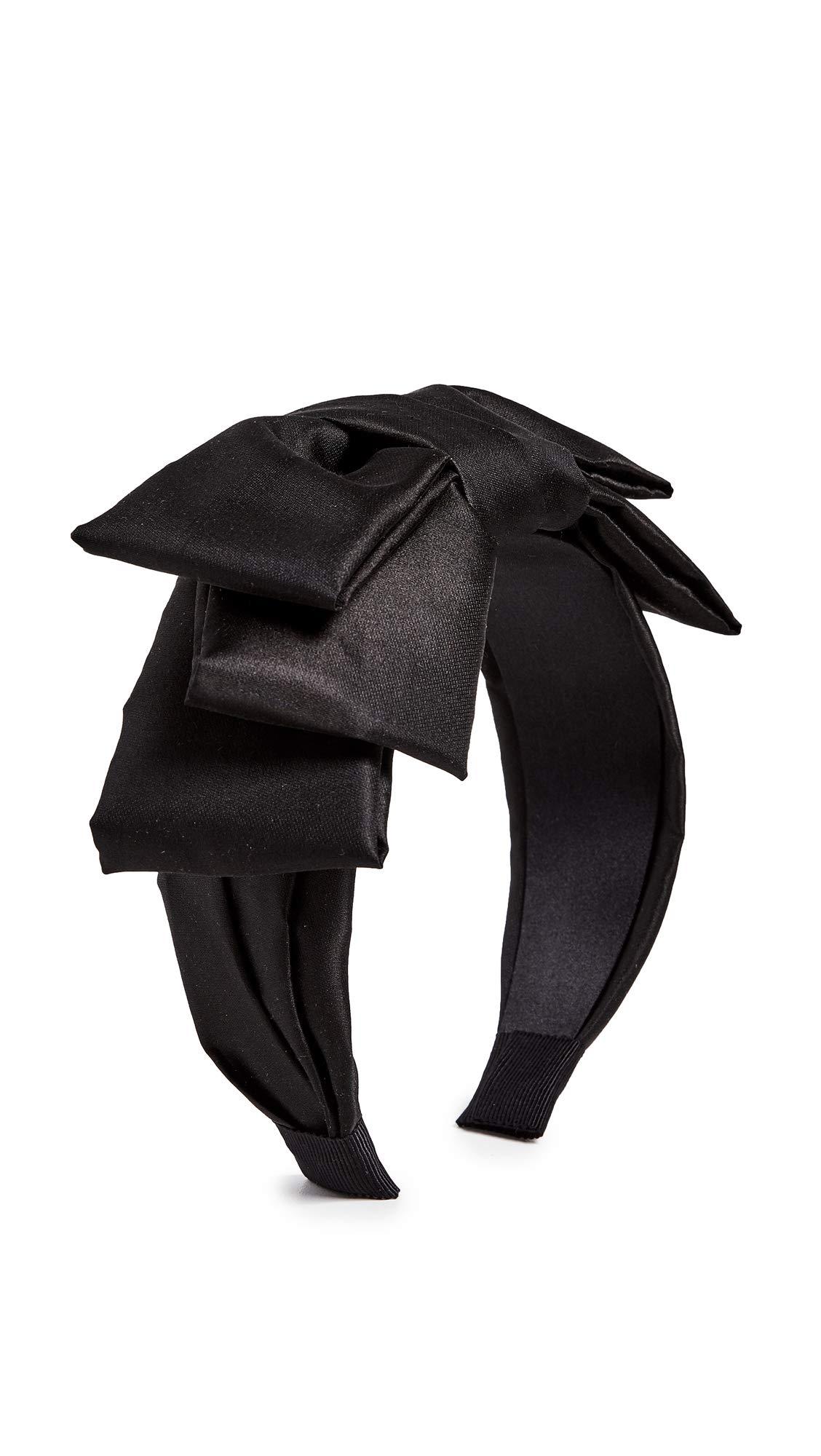 Jennifer Behr Women's Meira Bow Headband, Black, One Size