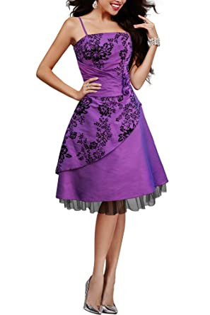 BlackButterfly Tara Eternal Satin Floral Party Prom Dress (Purple, ...