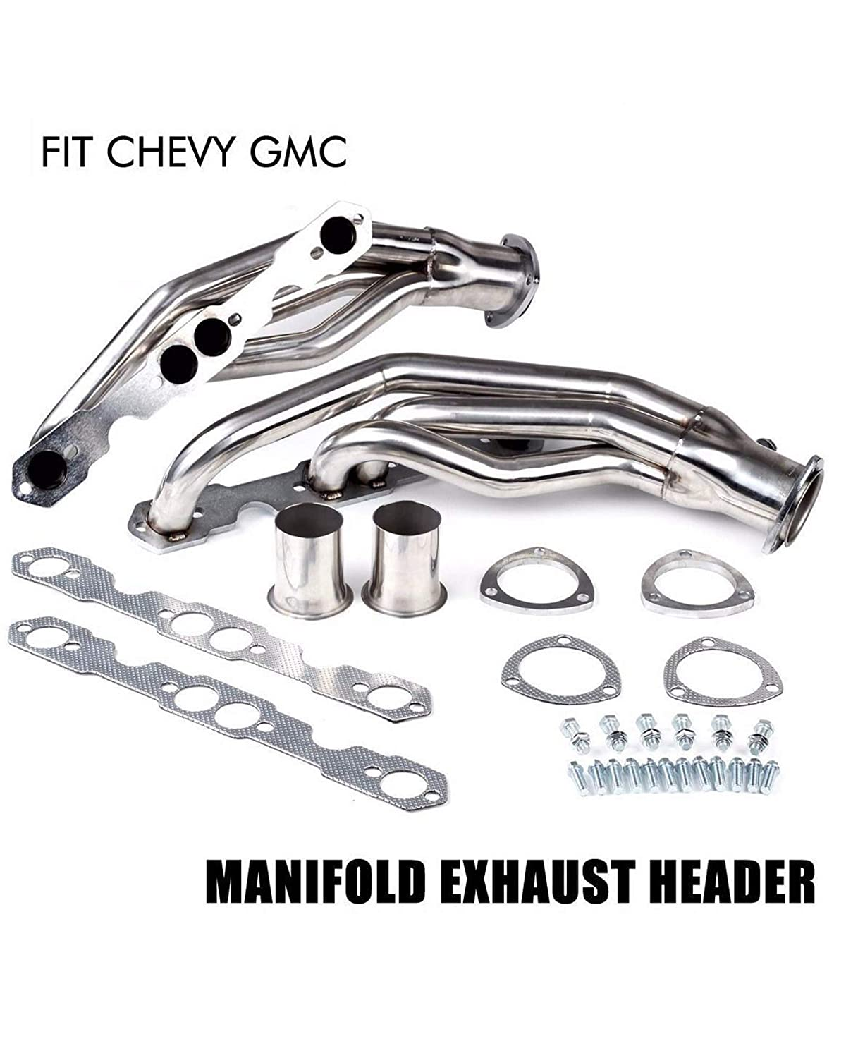 BLACKHORSE-RACING Manifold Exhaust Headers Stainless Steel Fit 1988-1997 Chevrolet C1500 GMC Pickup Chevy C2500 Truck 305 350 5.7L