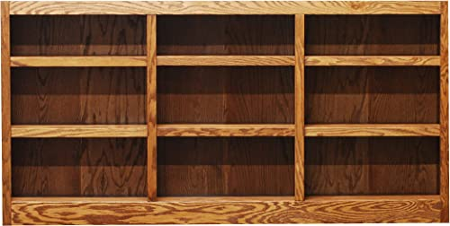 Concepts In Wood 9 Shelf Triple Wide Wood Bookcase