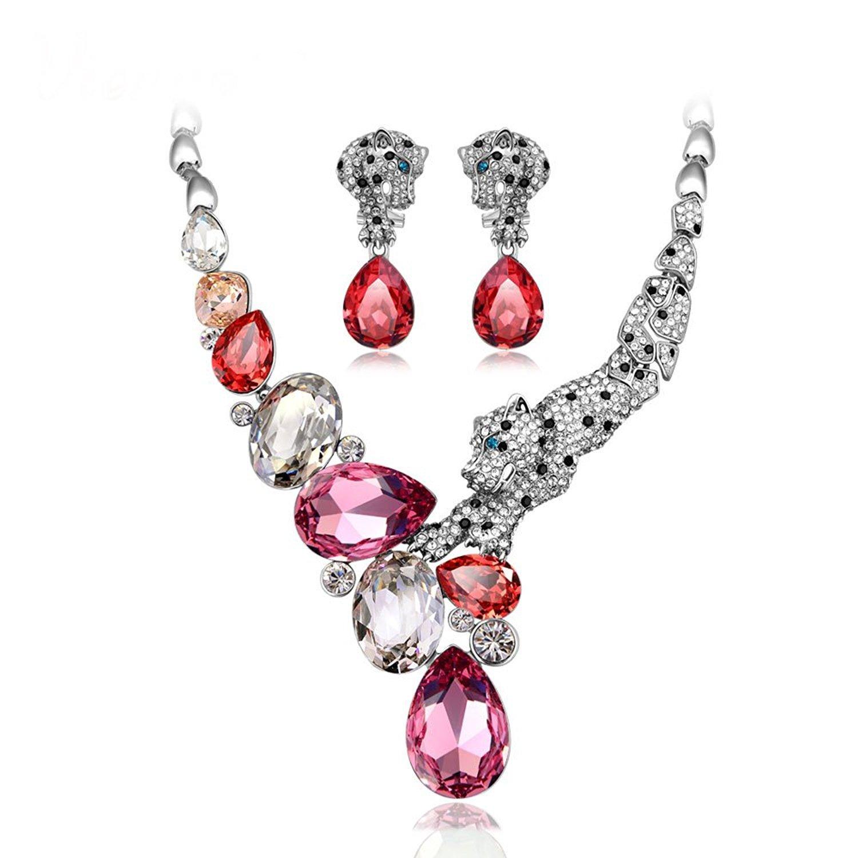 IUHA ''Jewelery Design Winning Works'' Necklance and Earrings Luxury Jewelry Sets Swarovski Crystals Women