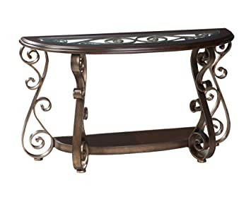 Amazon Com Standard Furniture Bombay Sofa Table With Glass Top