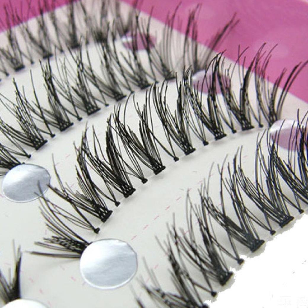 Chartsea Japanese Style Black 10 Pairs Eyelashes (Black) by Chartsea (Image #5)
