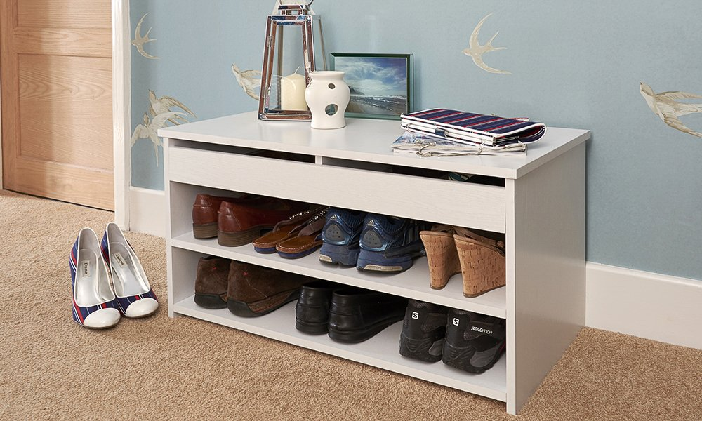 Amazing Home Source Shoe Storage Cabinet Rack Wooden Hallway Storage Bench With  Lift Up Lid   White: Amazon.co.uk: Kitchen U0026 Home