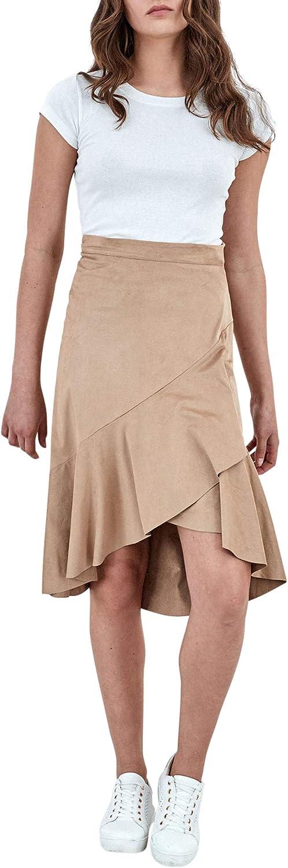 Piazza Italia Falda Mujer Efecto Piel: Amazon.es: Ropa y accesorios