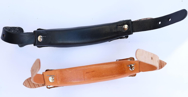 本革ハンドル交換用ブリーフケースサッチェルバッグブラックナチュラル新しい leather B07NFF987Q ナチュラル