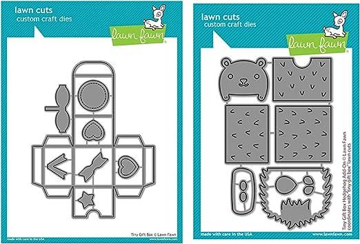 Lawn Fawn TINY GIFT BOX HEDGEHOG ADD-ON Lawn Cuts Dies LF2439 NEW 2020