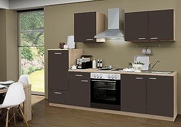 Küchenblock mit elektrogeräten  idealShopping Küchenblock mit Elektrogeräten Classic 270 cm in lava ...