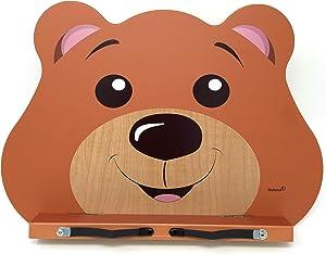 A+ Book Stand CBS100 Children's Book Stand Tablet Holder - Foldable Adjustable Portable Sturdy Lightweight Wooden Bookstand - Wood Bookstands - Music Book Stands - School Kids