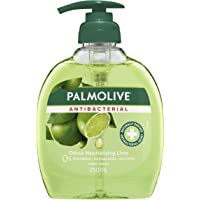 Palmolive Antibacterial Liquid Hand Wash Soap Lime Odour Neutralising Pump 0% Parabens Recyclable, 250mL
