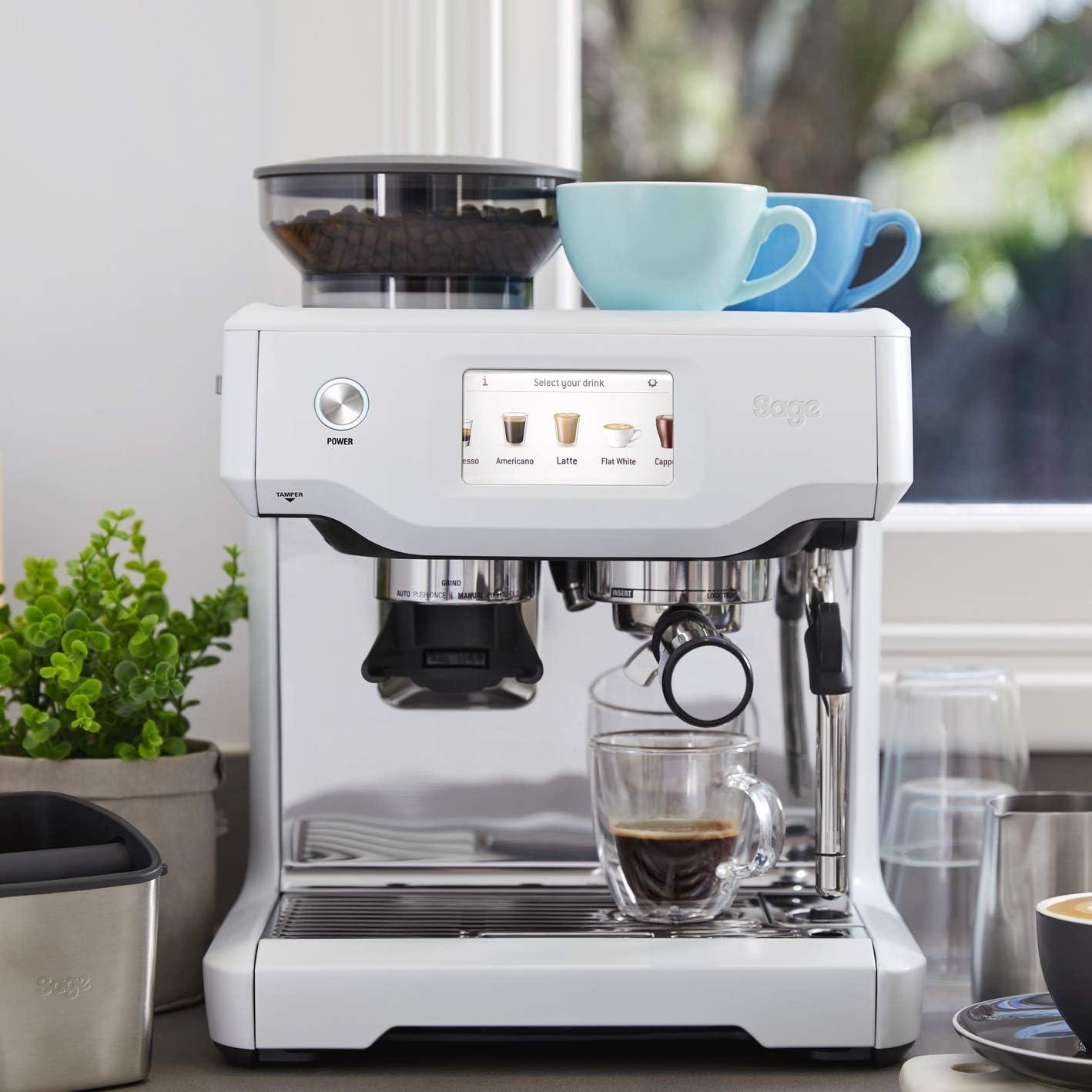 Sage Appliances SES880 - Cafetera espresso, color blanco: Amazon ...