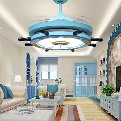 RS Lighting Children Bedroom Stealth Inch Blue Ceiling Fan Lights - Fan lights for bedrooms