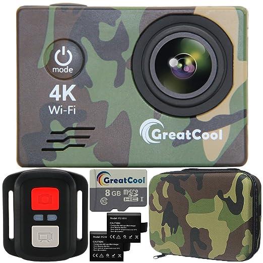 12 opinioni per GreatCool Action Cam 4K Wifi Sensor Sony Waterproof Camera Fotocamera Telecamere