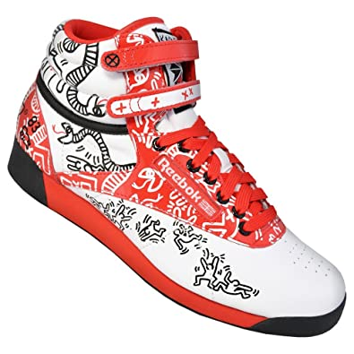 08253100f1a25 Reebok Classic x Keith Haring Freestyle Hi Int R12 womens lifestyle shoes  (UK 5.5