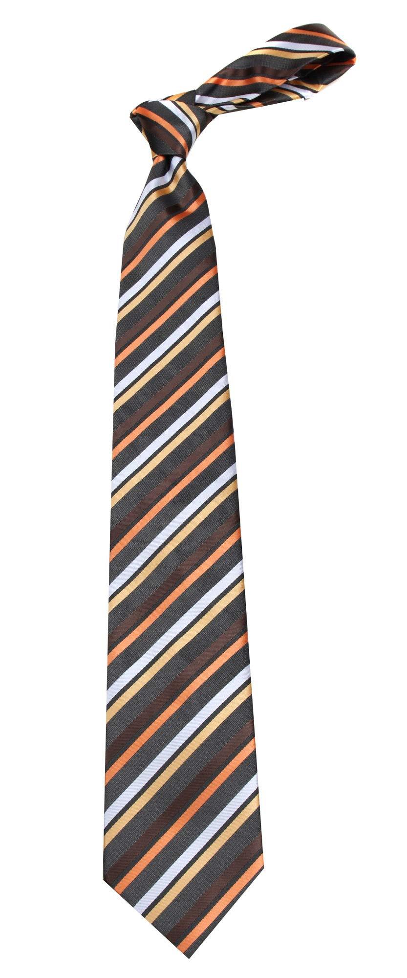 Boys Youth Charcoal Stripe Designer Necktie Ties