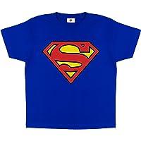 DC Comics Superman Logotipo clásico Camiseta de los Muchachos, mercancía Oficial | Top niños Superhero, Idea del Regalo…