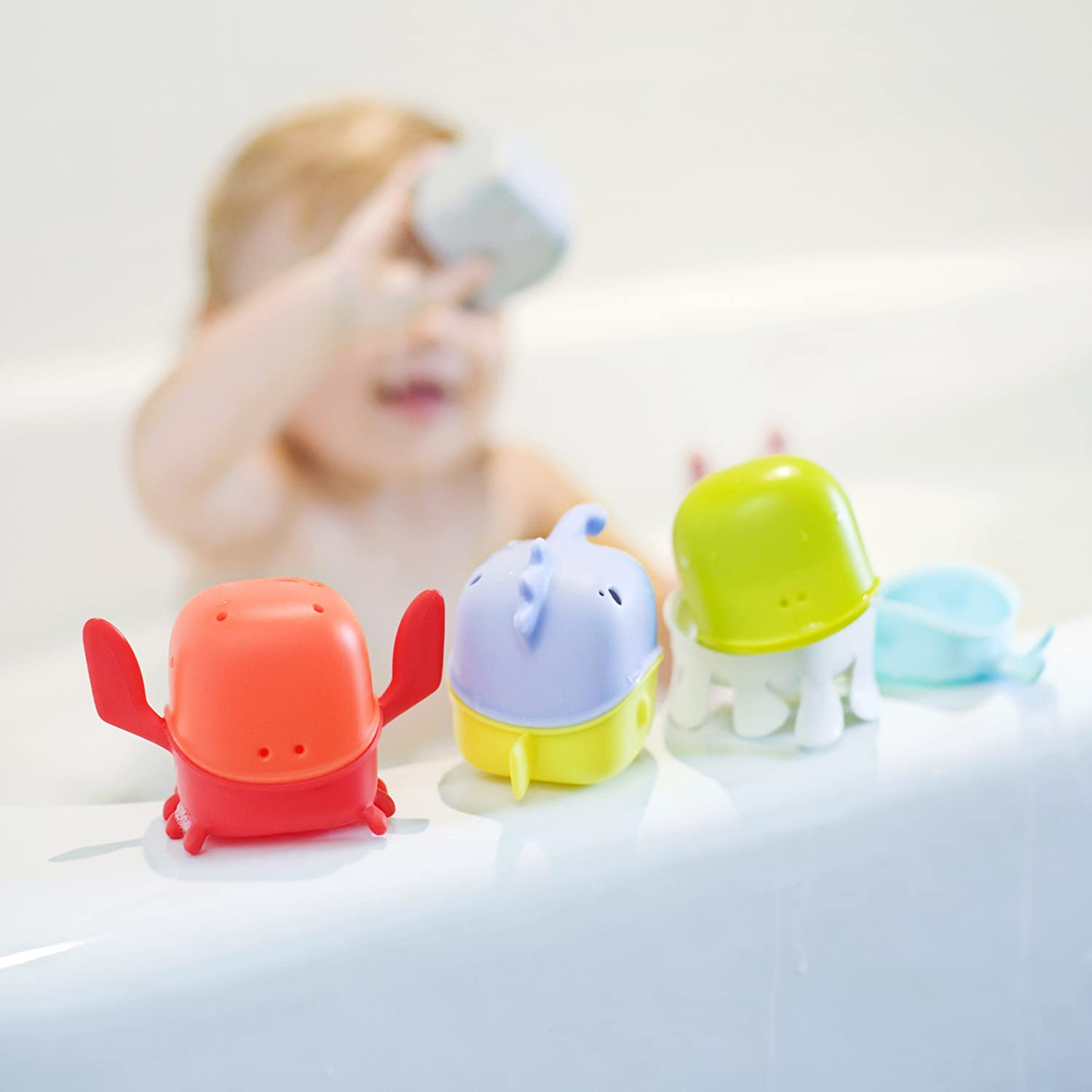 boon creatures interchangeable bath toy cup set boon amazonca baby -