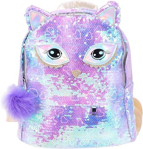 violet TENDYCOCO paillettes paillettes sac /à main pour les filles crossbody mignon oreilles sac /à bandouli/ère en cuir PU enfants petite poche crossbody bourse