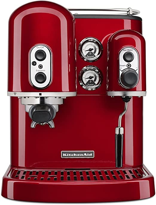 Amazon.com: KitchenAid Pro Line Series Espresso Maker with Dual Independent  Boilers KES2102CA, One Size, Candy Apple Red: Beauty