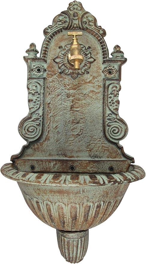 Lavabo Fuente de Pared de Hierro jardín de Flores de Estilo Antiguo de: Amazon.es: Jardín