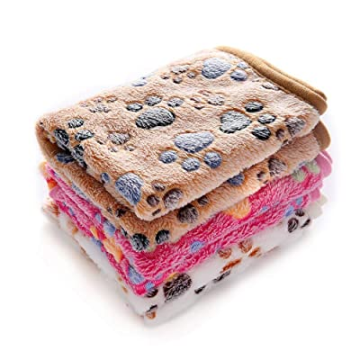 Luciphia 1 Pack 3 Blankets Super Soft Fluffy Premium Fleece Pet Blanket Flannel Throw