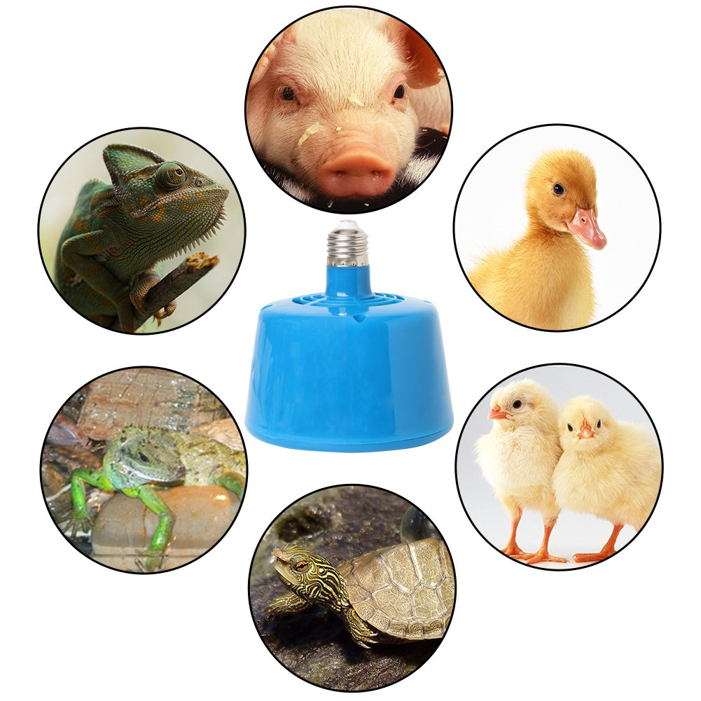 Onpiece 220V 100-300W Pets Livestock Piglets Chickens Heat Warm Lamp Keep Warming Bulb