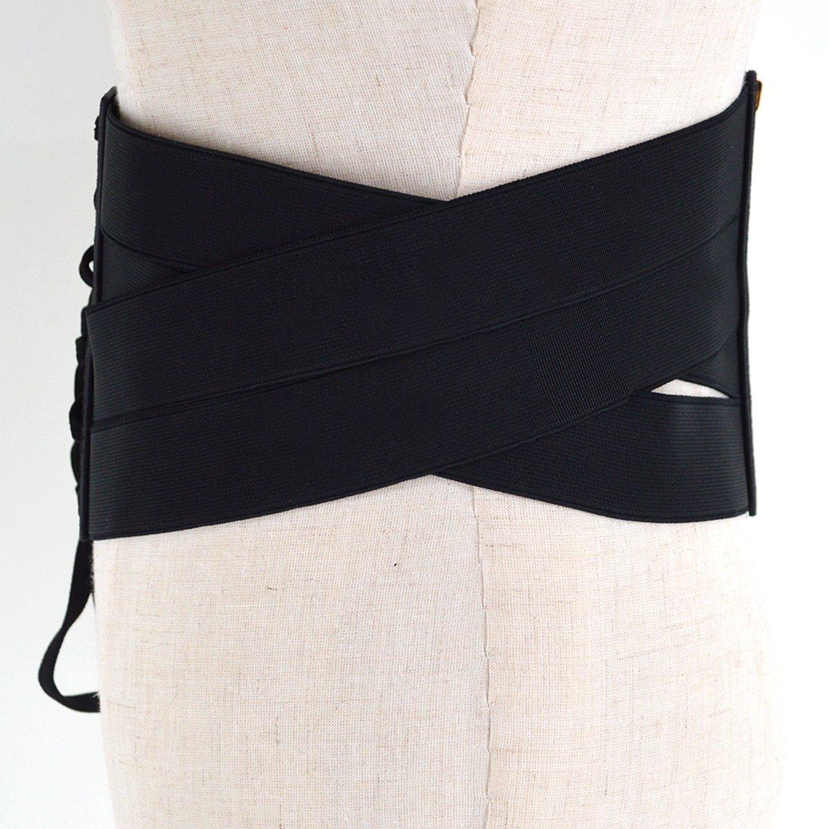 f6af223cf3c4 AiSi Ceinture Obi Femme Noir pour Décoration Robe Chemise et Jupe Style 1   Amazon.fr  Vêtements et accessoires