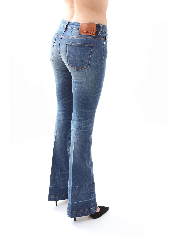 Love Moschino Womens Flare-Leg Jeans Denim Size 28