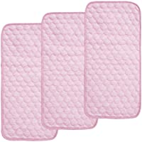 Bamboo Quilted Thicker Waterproof Changing Pad Liner by BlueSnail (Pink)