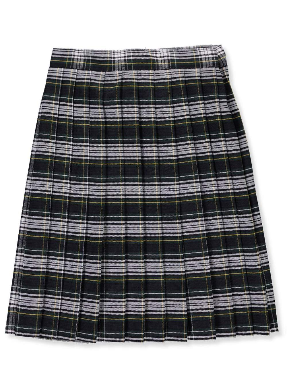 Cookie's Brand Big Girls' Pleated Skirt - Green/White/goldplaid #61, 8