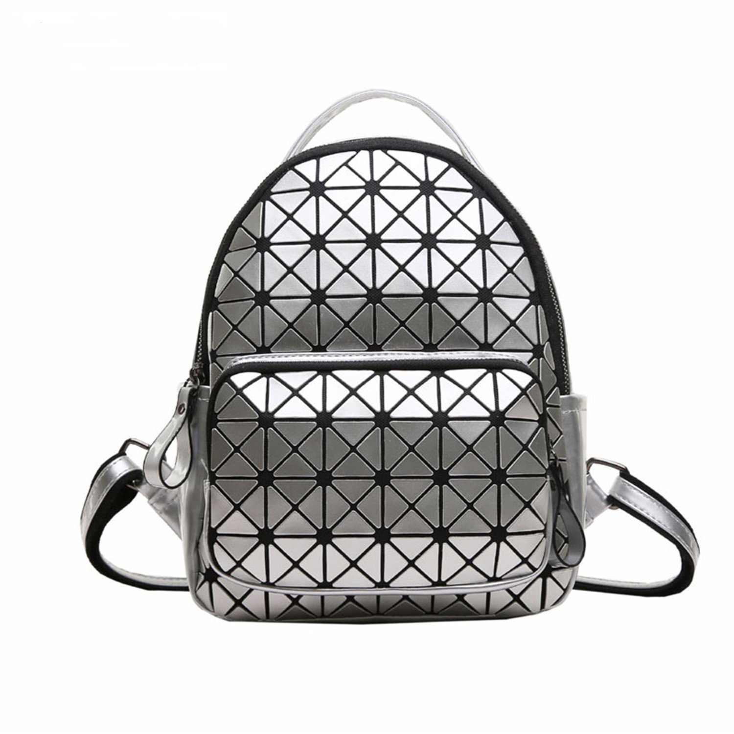 Amazon.com: Bikifree Fashion Women Backpack Geometric Plaid Sequin Female Scool Backpacks For Teenage Girls Bagpack Women Backpack White20x12x25CM: Shoes