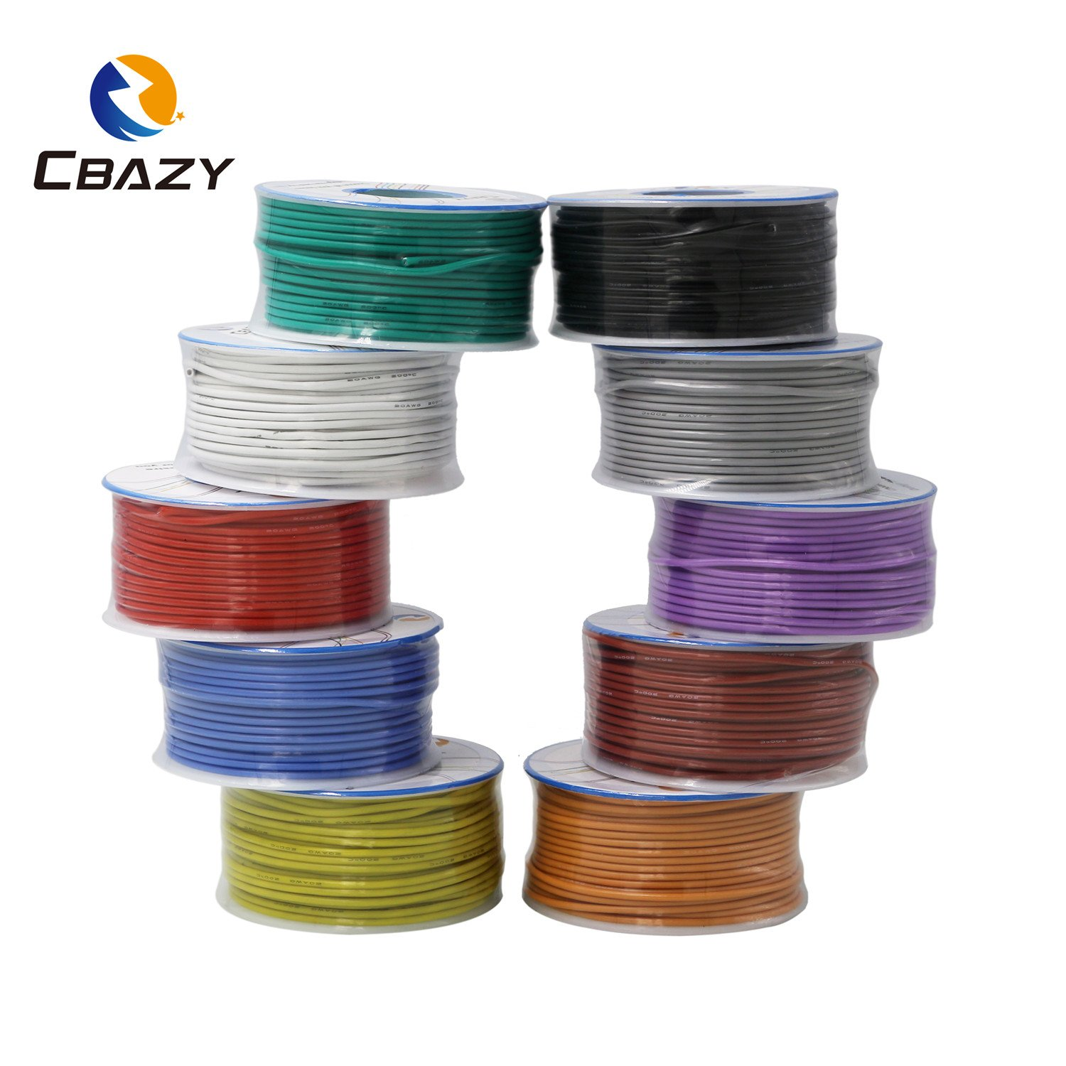 CBAZY™ Hook up Wire (Stranded Wire) 22 Gauge Flexible Silicone Wire 22AWG 25M (82 Feet) Electrical Wire Green by CBAZY (Image #6)