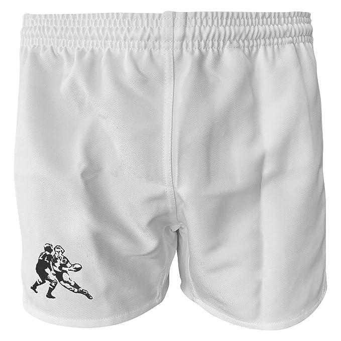 FitsT4 Men /& Women Pro Rugby Shorts Sports Team Training Wear Elastic Waist Shorts with Pockets