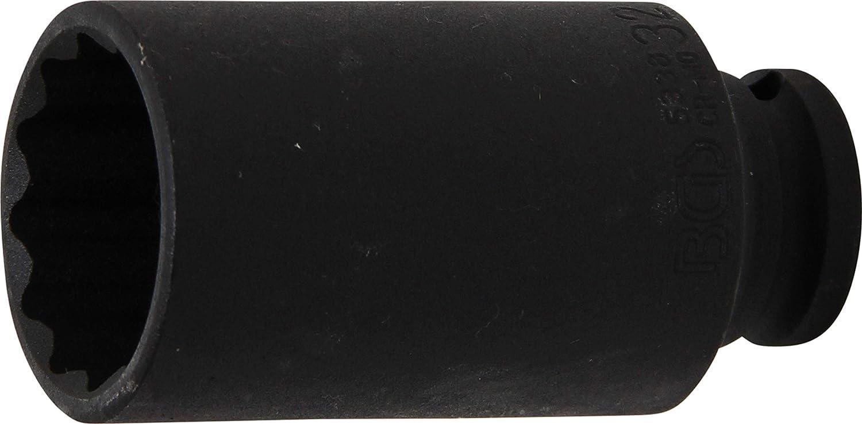 Llaves de vaso impacto 12 caras 1//2 BGS 5344 entrada 12,5 mm   38 mm