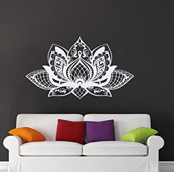 Amazoncom Lotus Wall Decal Yoga Studio Decorations Vinyl Sticker - Yoga studio wall decals
