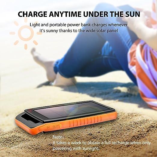 便携式太阳能电话充电器 在外面浪一天也不怕没电!
