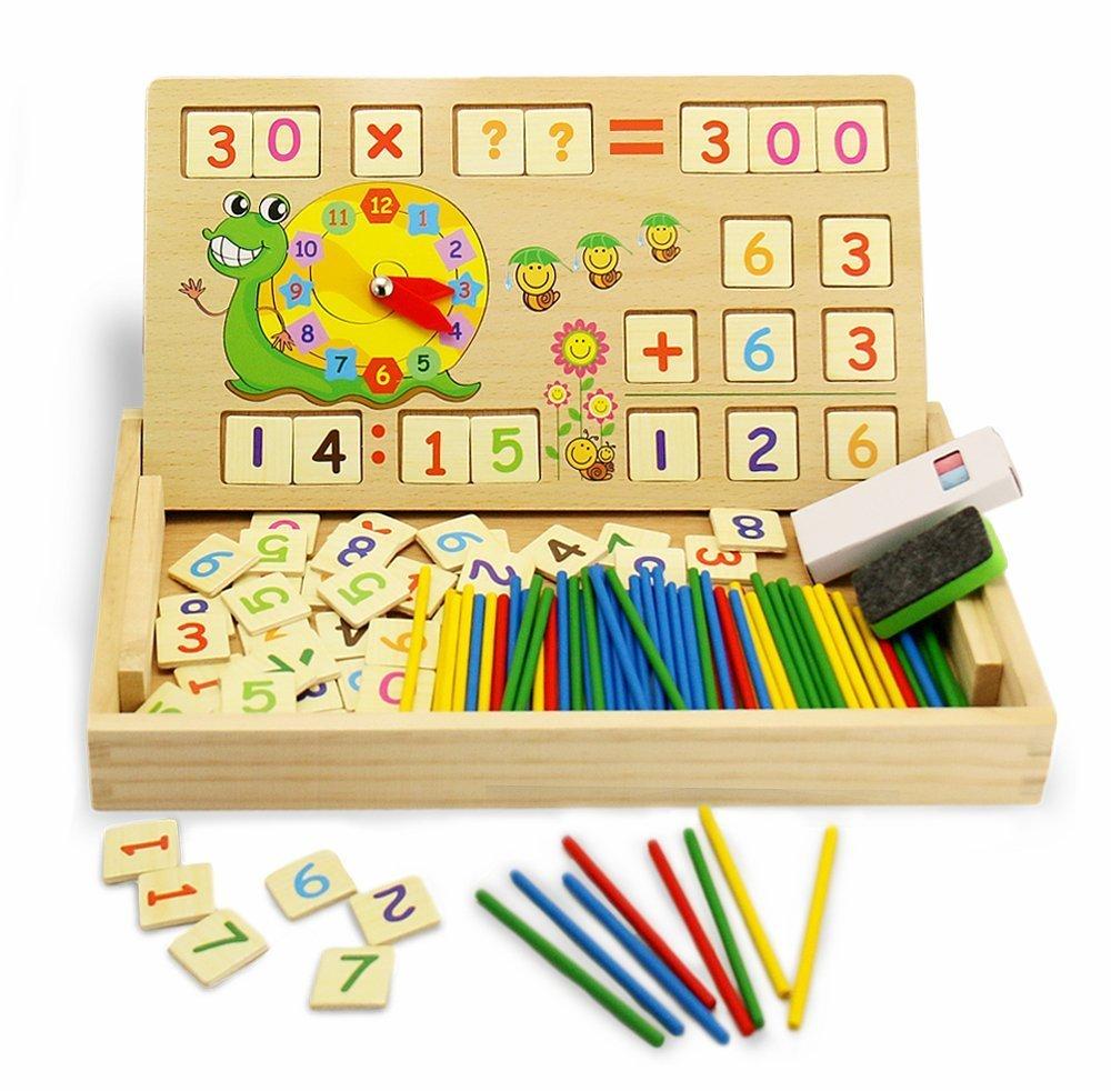 Montessori matemáticas Juguete de Madera Digital de Dibujo de Aprendizaje Caja con Multi Funciones C&T Handels GmbH