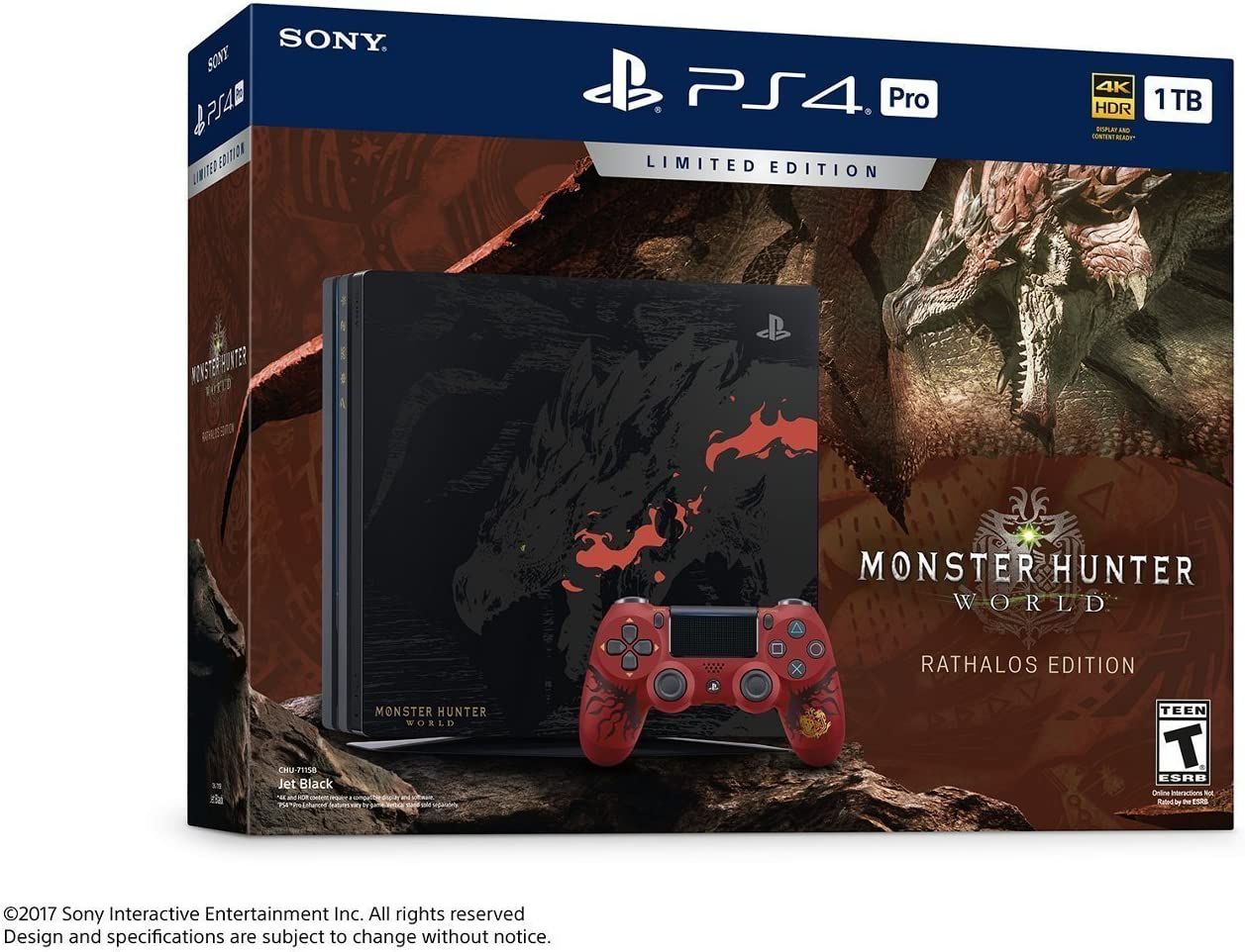 Playstation 4 Pro 1tb Monster Hunter World Limited Black Image Unavailable Not Available For