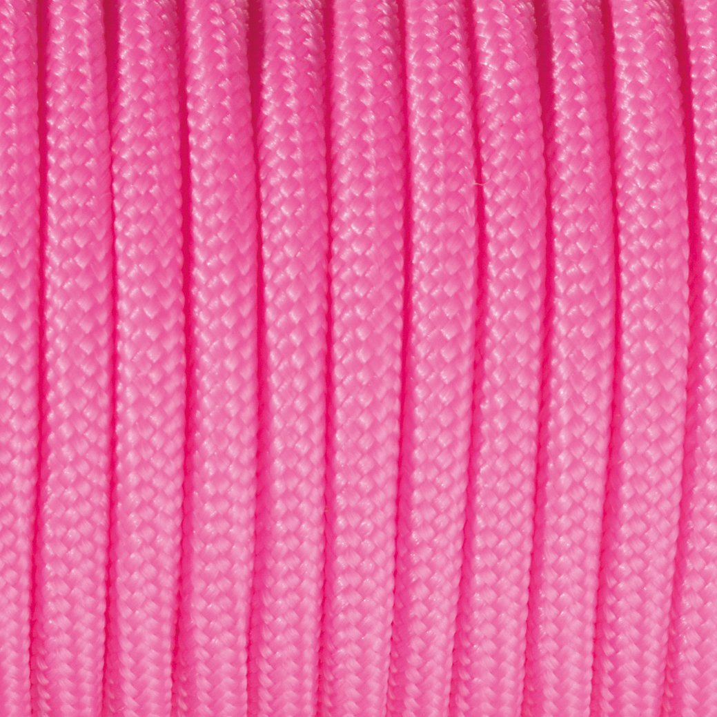 Efco Paracord Rope, Polyester blend, Bright Pink, 2 mm x 4 m 1010635