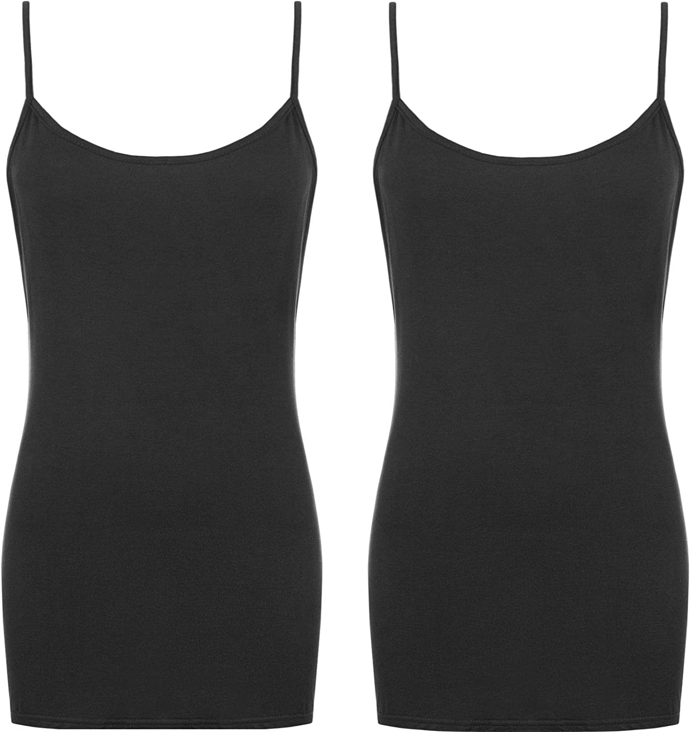 BlessFashions 2 Pack Girls Strappy Vest Top Kids Cami Tops Tank Childrens Camisole Casual