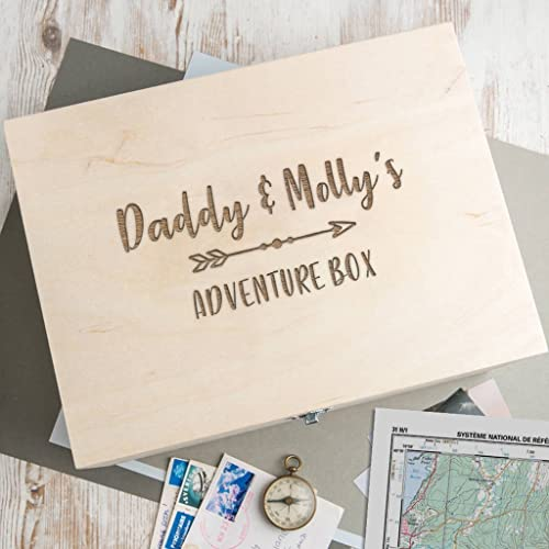 personalised daddy wooden adventure box personalised memory box