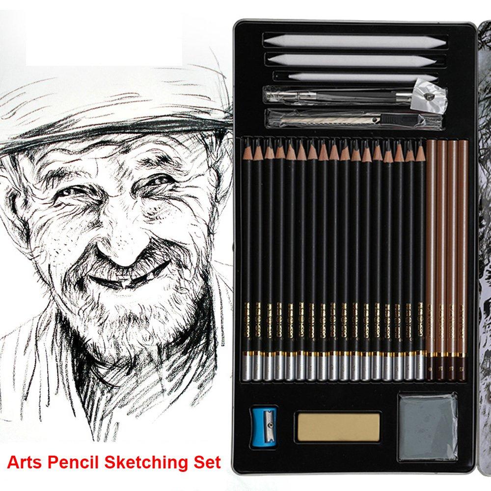 Arts Pencil Sketching Set (Tin Box Package) Ltd 4336945902