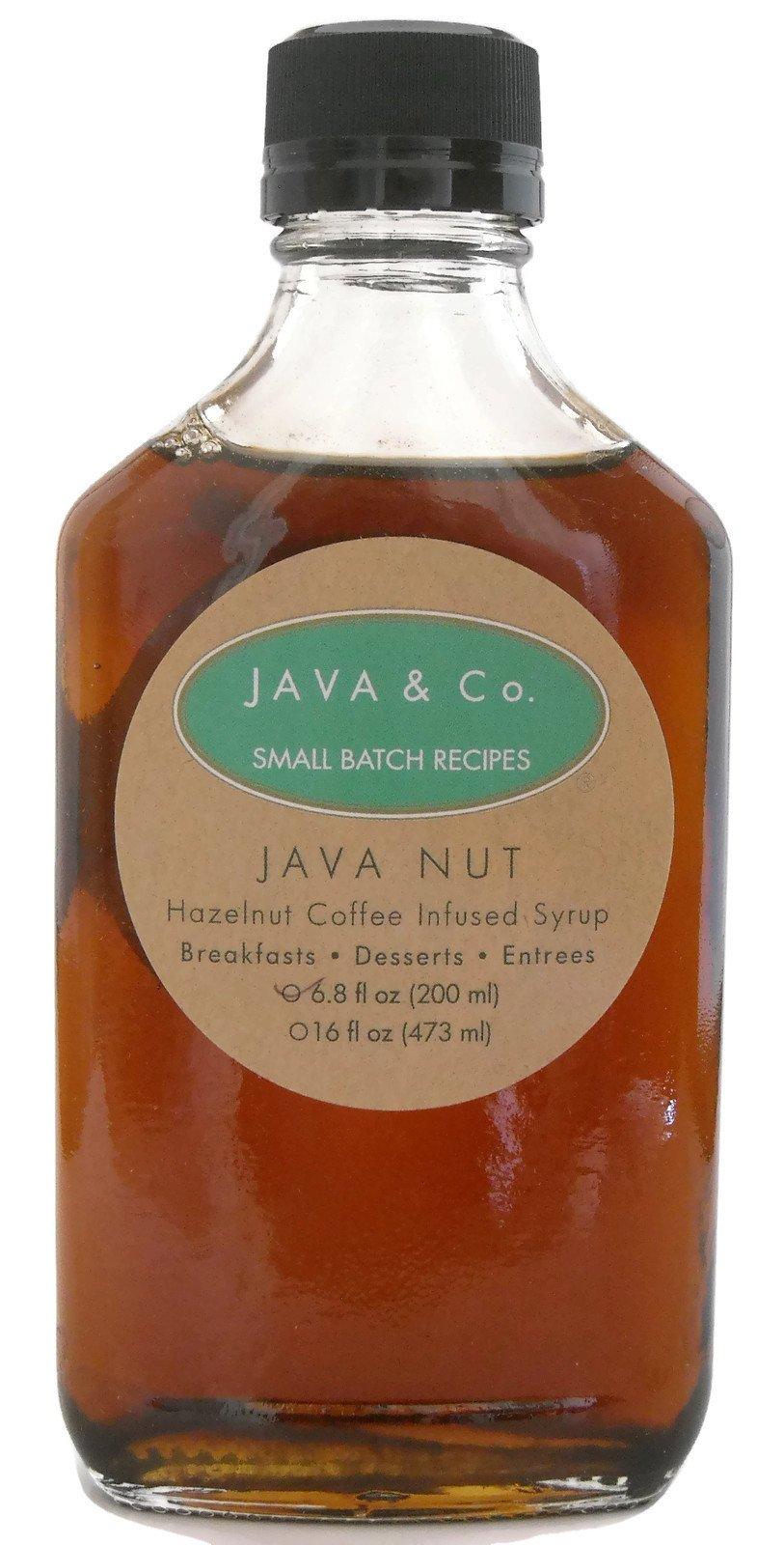 Coffee infused Syrup, JAVA Nut (hazelnut), 6.8 oz