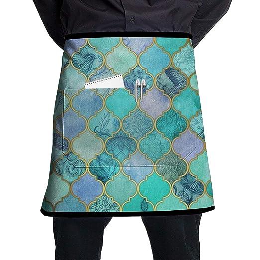 O-X_X-O Delantal de cocina, suave, duradero, 100% poliéster ...