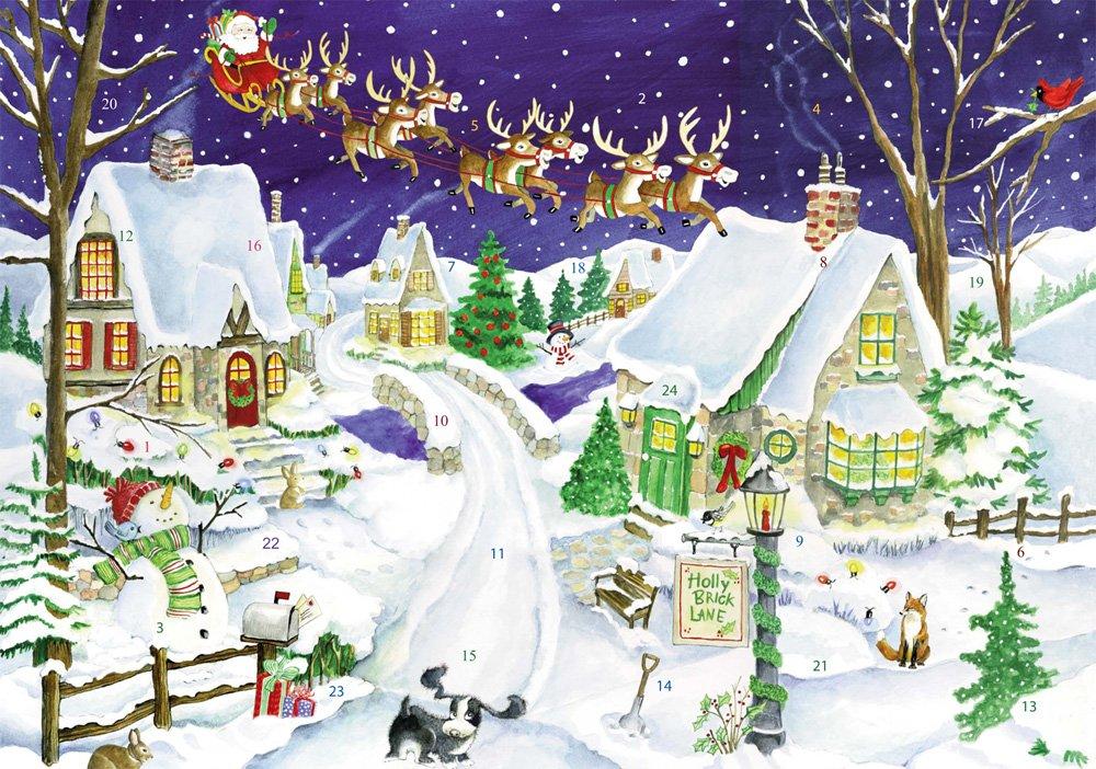 Eight Tiny Reindeer Advent Calendar Countdown to Christmas