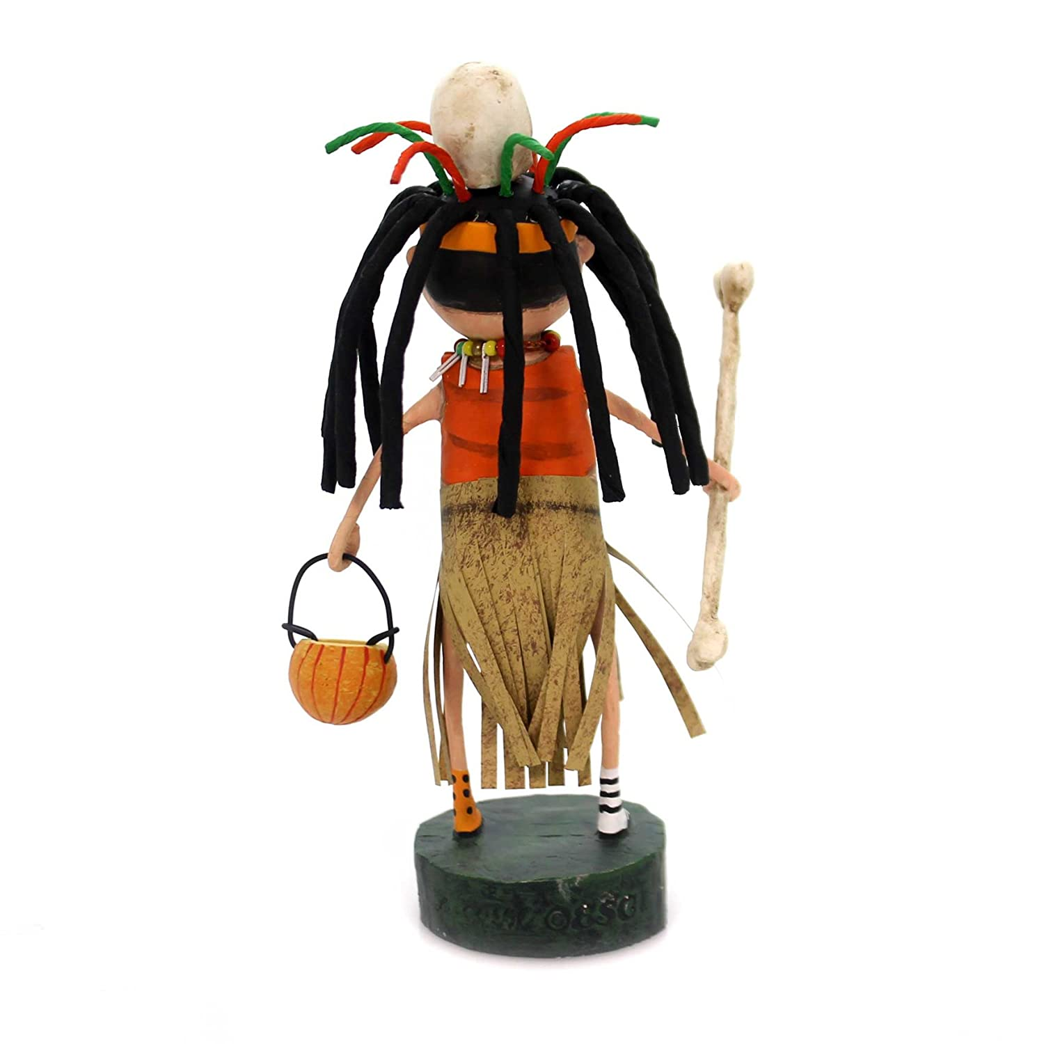 Lori Mitchell WITCH DOCTOR Polyresin Skeleton Mask Pumpkin 11103