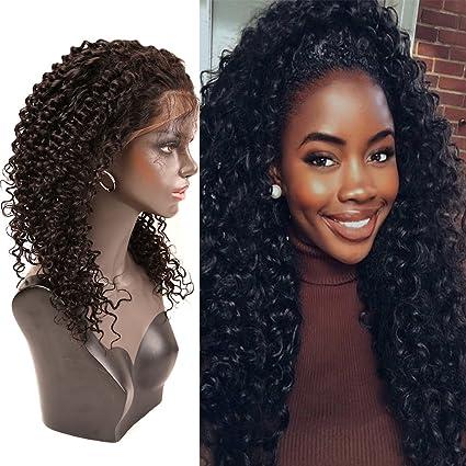 """Bella Hair 10"""" 360 Encaje Peluca Cierre Frontal Densidad 180% Cabello Virgen Humano Rizado"""