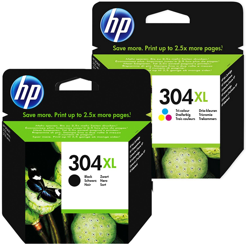 Cartucho Tinta HP 304XLl Set Negro + Color XL N9K07AE N9K08AE para ...