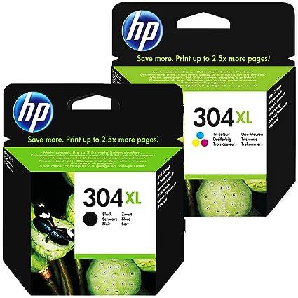 Cartucho Tinta HP 304XLl Set Negro + Color XL N9K07AE ...